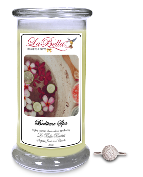 Bedtime Spa Scented Jewel Candle