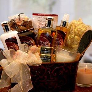 Caramel Creame Spa Gift Basket