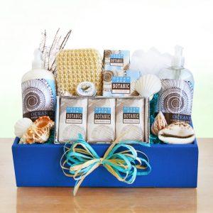 Seas, Suns Greetings Spa Gift Basket