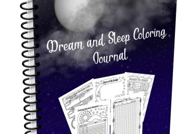 Dream and Sleep Coloring Journal