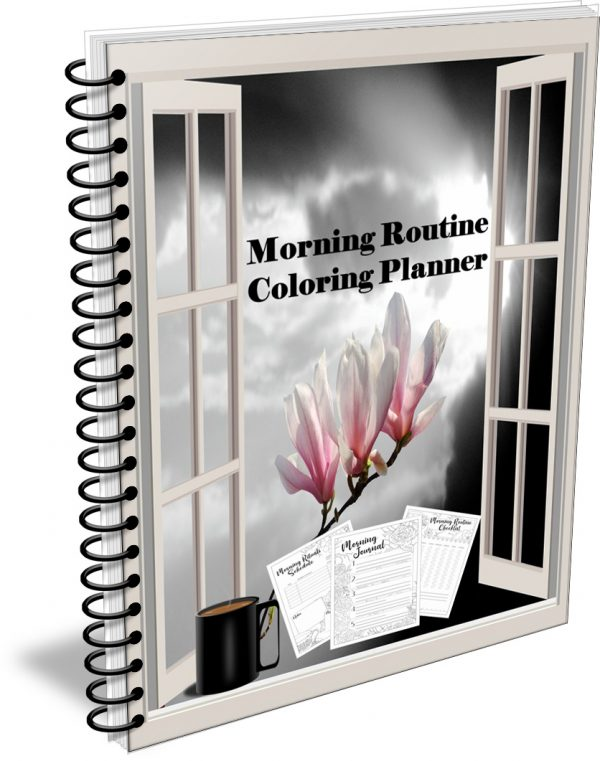 Morning Routine Coloring Planner